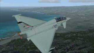 Eurofighter Typhoon in Hawaii (FSX) Revised