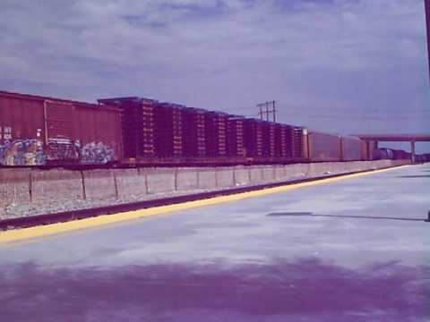 Union Pacific Freight Train WB through Palm Spring's Amtrak Station