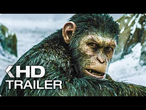 WAR FOR THE PLANET OF THE APES ALL Trailer & Clips (2017)