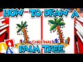 How To Draw A Christmas Palm Tree