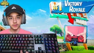 Fastest Builder On PC Tries To Play On PS4 + Controller Cam in Fortnite: Battle Royale!