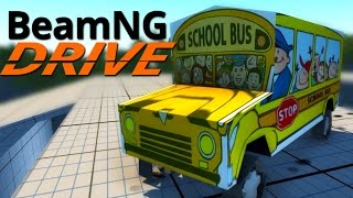 BeamNG.Drive #2 | THE WHEELS ON THE BUS GO CRASH!!