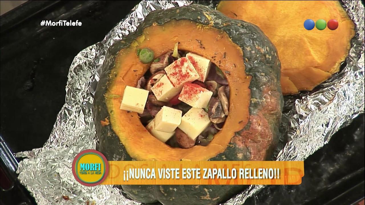 Zapallo relleno de carne y verduras - Morfi