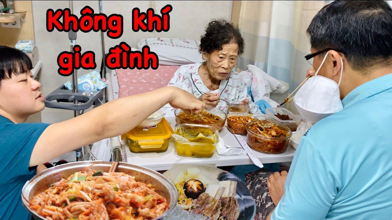 Vô bệnh viện chăm nội thay Hoon, Quyên tạo không khí gia đình ấm áp cho nội vui