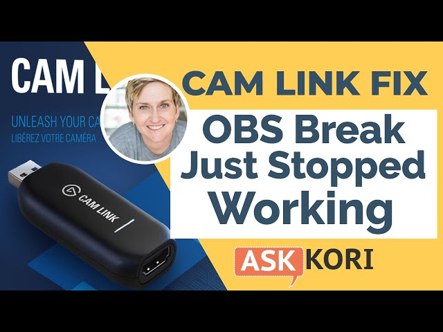 Cam Link Just Quit Working with OBS - Simple Fix