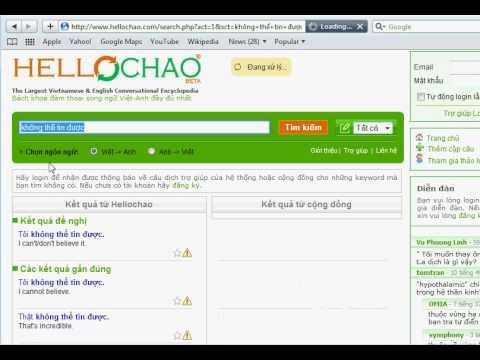 HelloChao.com - Công cụ tìm kiếm câu đàm thoại song ngữ Anh Việt