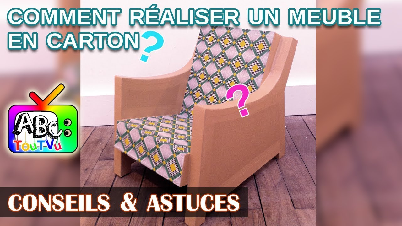 comment fabriquer son meuble en carton youtube. Black Bedroom Furniture Sets. Home Design Ideas