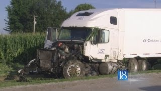 Two teens killed after car and semi collide