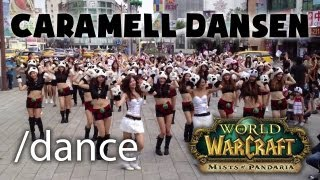 Panda girls choregraphy in Taiwan celebrating WoW: Mists of Pandaria -- Caramell Dansen
