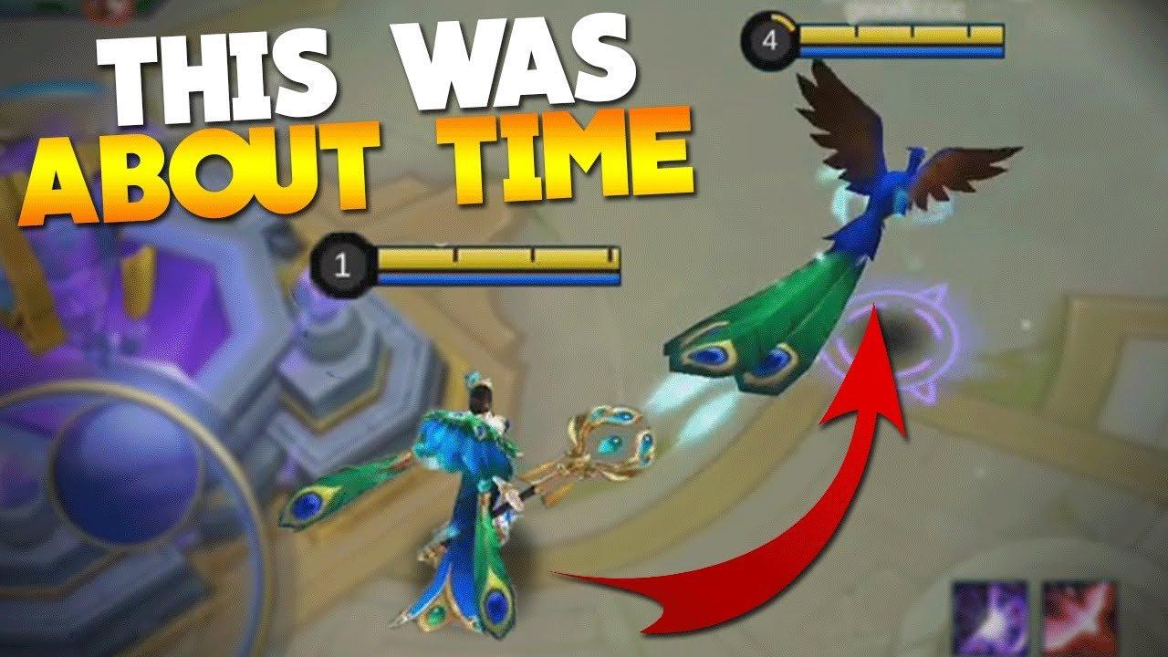 New Leaked Pharsa Skin Gameplay Peafowl Mobile Legends Youtube