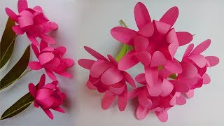 how to make paper flowers easy | Paper flowers | paper flower making step by step