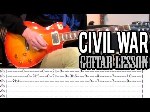Guns N'Roses - Civil War FULL Guitar Lesson (With Tabs)