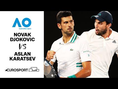 Novak Djokovic v Aslan Karatsev   Australian Open 2021 - Highlights   Tennis   Eurosport