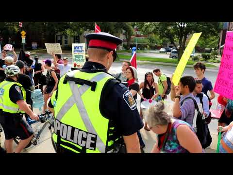 Violent Protests In London, Ontario 'Anti-Hate Rally' | Bailey Lamon Serial Protester