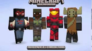 Minecraft (Xbox 360) - SKIN PACK 4 RELEASE DATE! Also more skins: Animals, Green hair guy, More