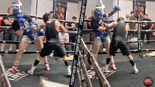 CANELO SPARRING OSCAR VALDEZ! MAKES VALDEZ SWING AT AIR DISPLAYING MAYWEATHER LIKE DEFENSIVE SKILLS