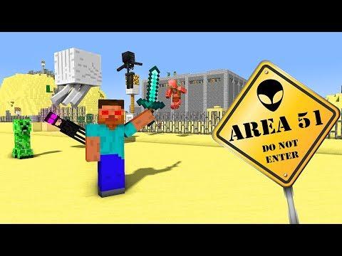 MONSTER SCHOOL STORMING AREA 51 - Minecraft Animation