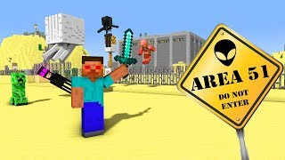 MONSTER SCHOOL STORMING AREA 51 - Minecraft Animation