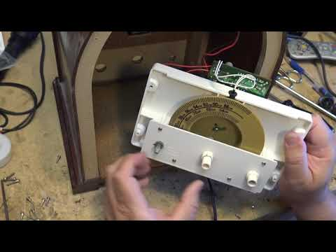 Vintage Replica GE radio restoration and LED dial light upgrade