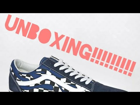 VANS UNBOXING, Checkered Flame Old Skool YouTube