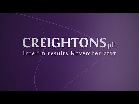 Creightons (CRL) Interim results interview November 2017