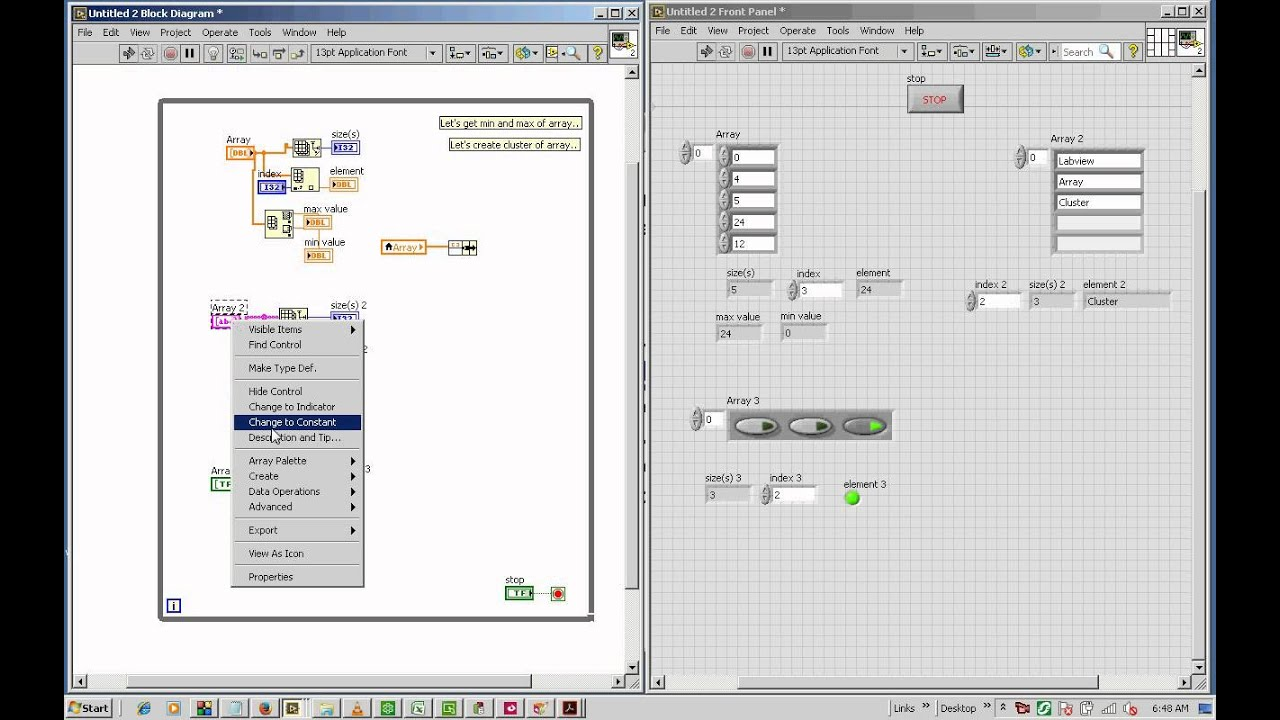 use Array in LabView