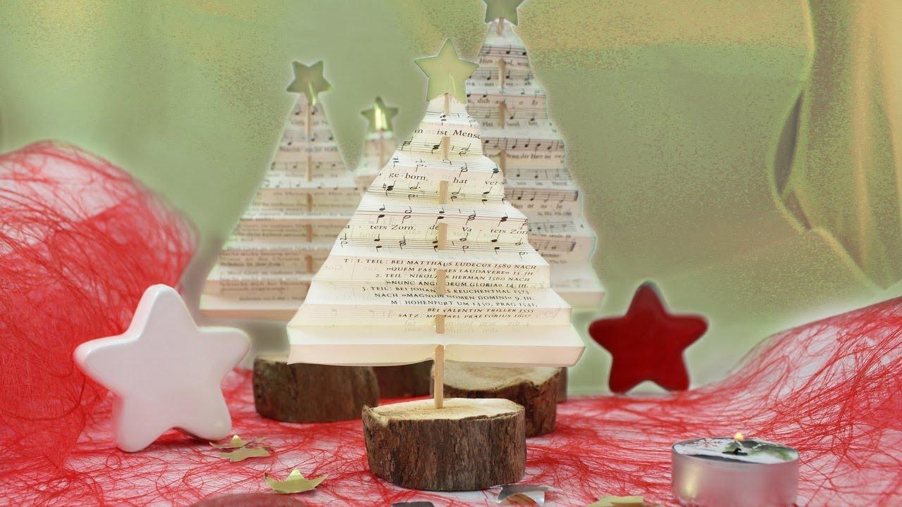 Weihnachtsbaum Aus Alten Gesangbuch Oder Bibel Seiten Logo