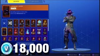 My 18,000 V-BUCK + 50 Skins Fortnite Account! (MOST SKINS FORTNITE ACCOUNT)