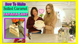 How to Make a Gluten Free Salted Caramel Banana Cake