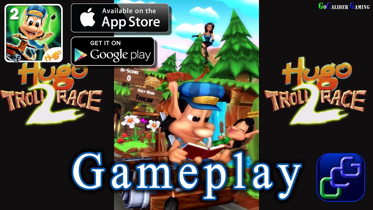 hugo troll race 2 android ios gameplay youtube. Black Bedroom Furniture Sets. Home Design Ideas