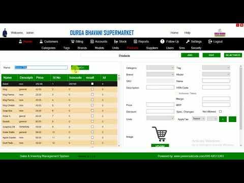 Sales & Inventory Management System(Supermarket)