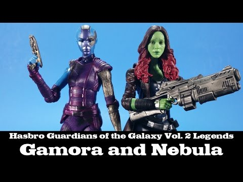 Marvel Legends Guardians of the Galaxy Vol. 2 Gamora and Nebula Hasbro