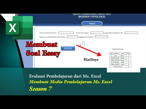 Membuat Soal Essay Media Pembelajaran Ms Excel Season 7 Youtube