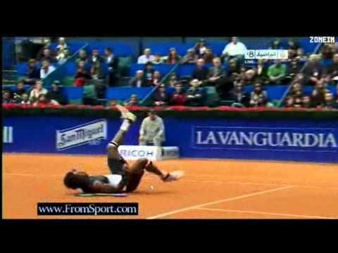 Rafa Nadal def Gael Monfils - Barcelona 2011 Part 2/5