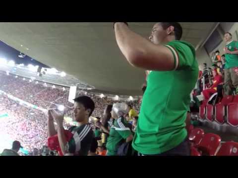 """""""Messico, Messico, Messico"""", el grito que se contagia en las calles de Brasil"""