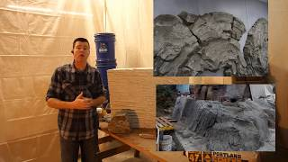 Car-VZ  Vertical Carving Mix Additive - Mix Components Overview, Carved Concrete