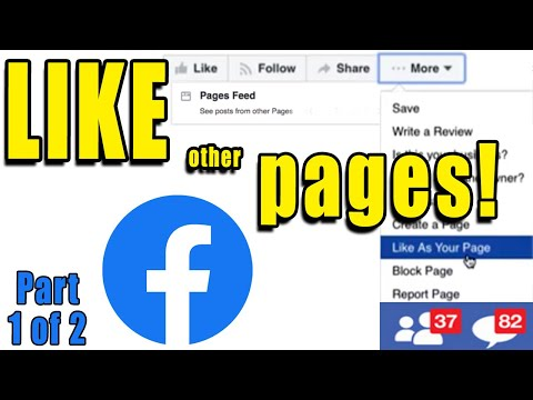 How to like other FACEBOOK PAGES as BUSINESS PAGE  | 1 of 2