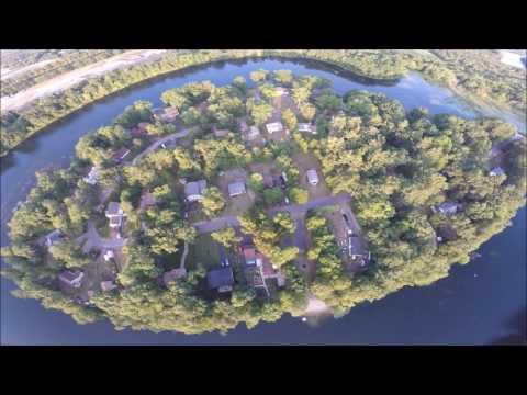 DJI flyover at Horseshoe Pond in Merrimack, New Hampshire