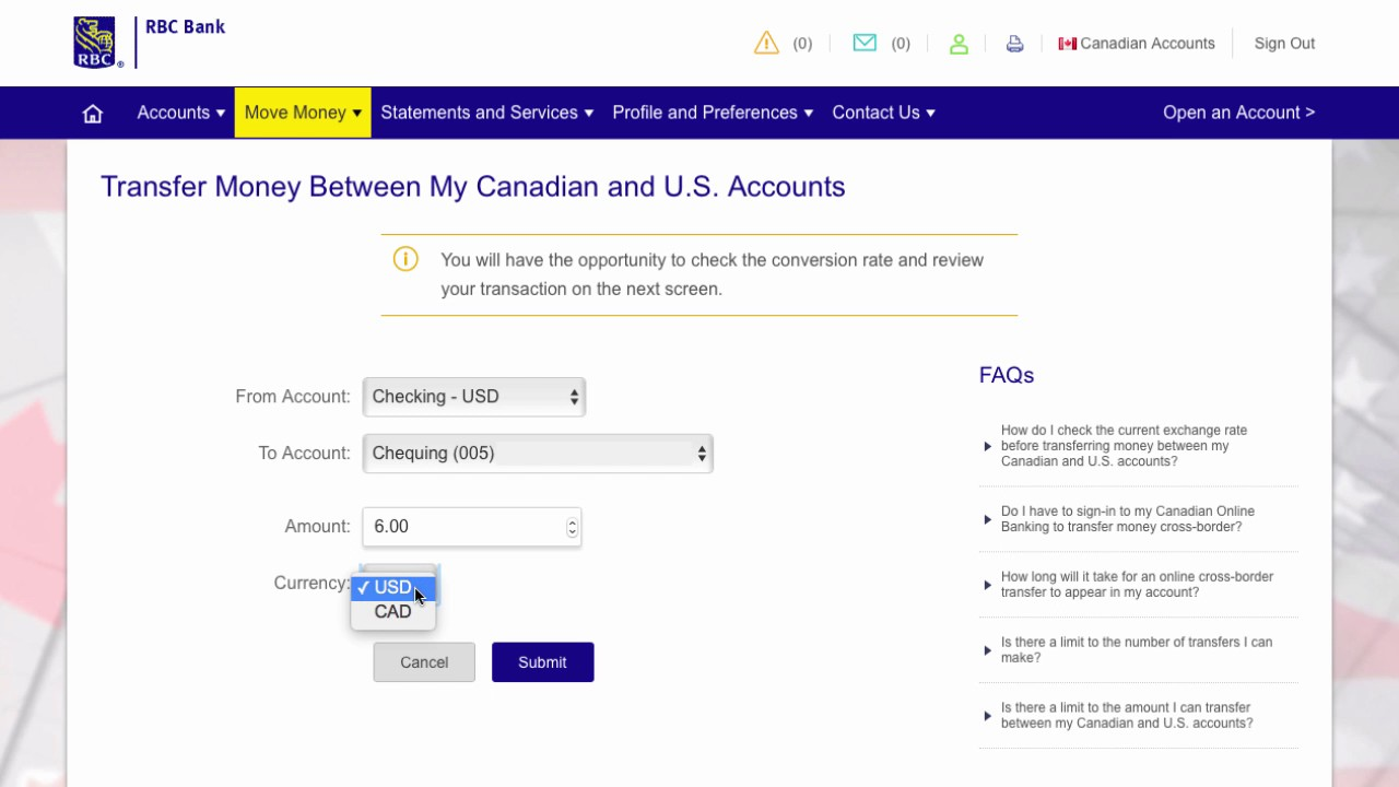 rbc wire transfer to usa