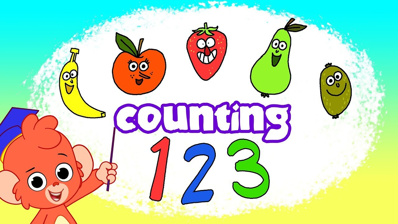 Counting From 1 to 10 | Learn to Count with Fruit Cartoon for Kids | Club Baboo