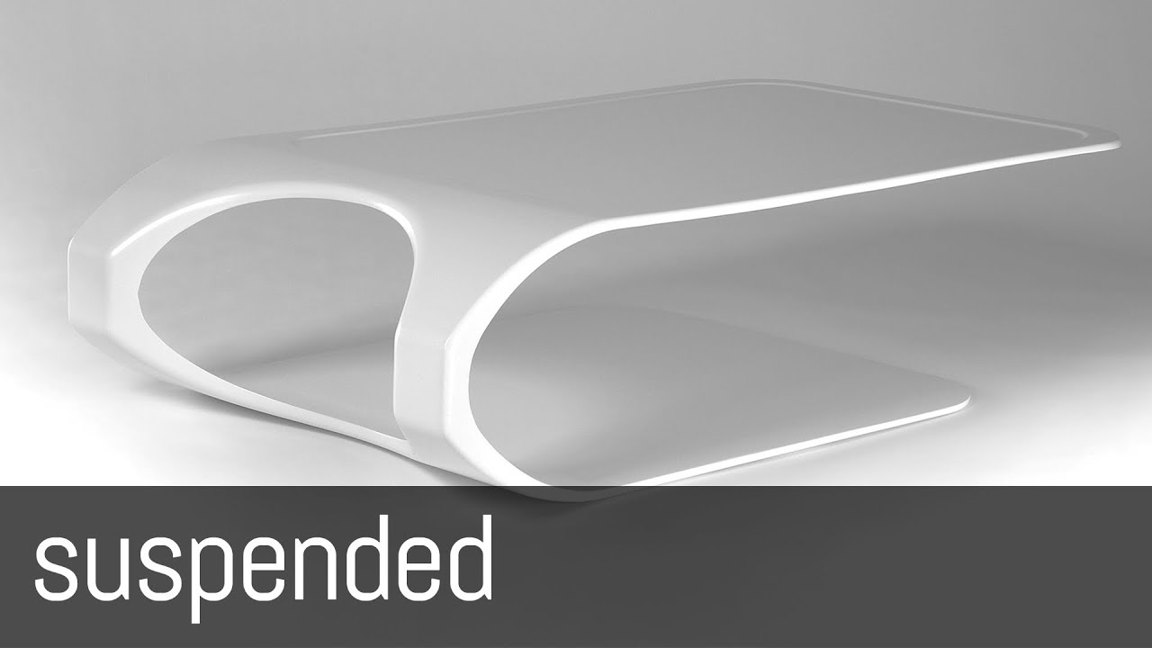 Suspended (carbon Fiber Coffee Table By Mast Elelements)