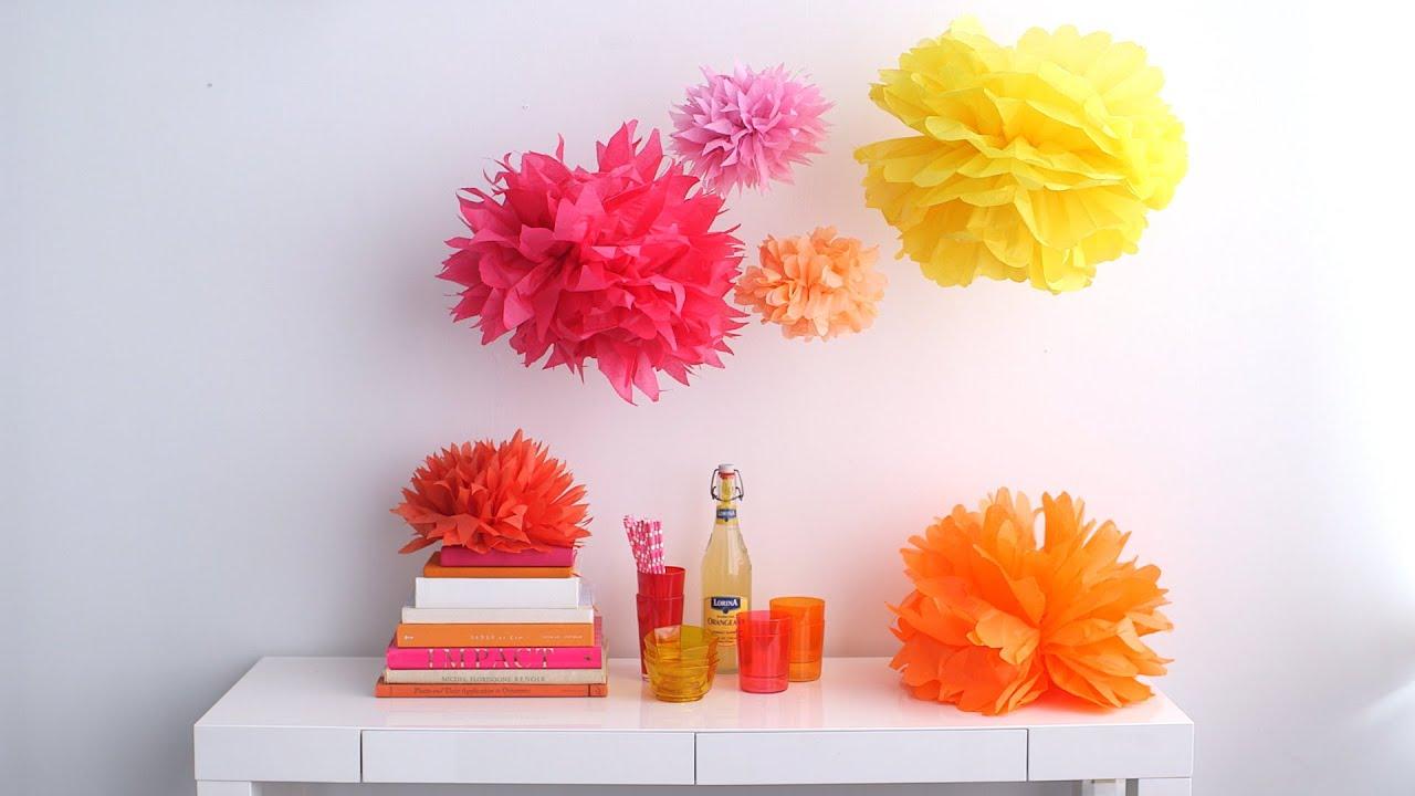 Tissue Paper Pom Poms Martha Stewart Youtube