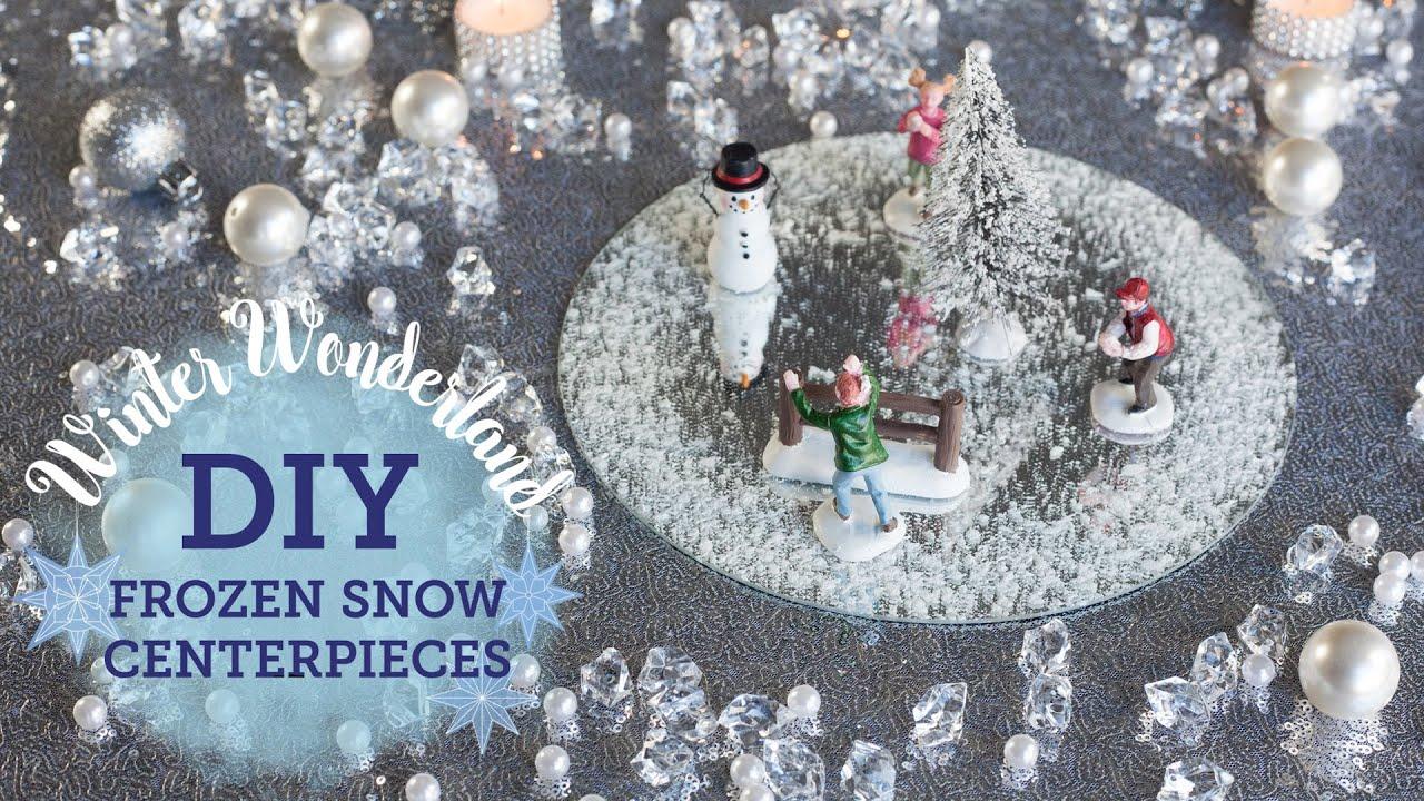 Diy Winter Wonderland 2 Frozen Snow Centerpieces