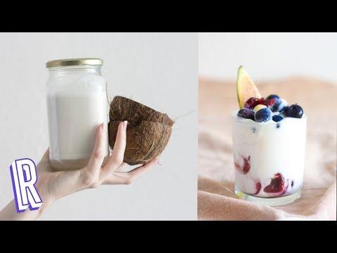 CÓMO ABRIR UN COCO y hacer leche, yogur y nata de coco!!
