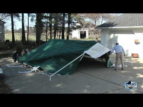 20'x20' Event Tent Set Up