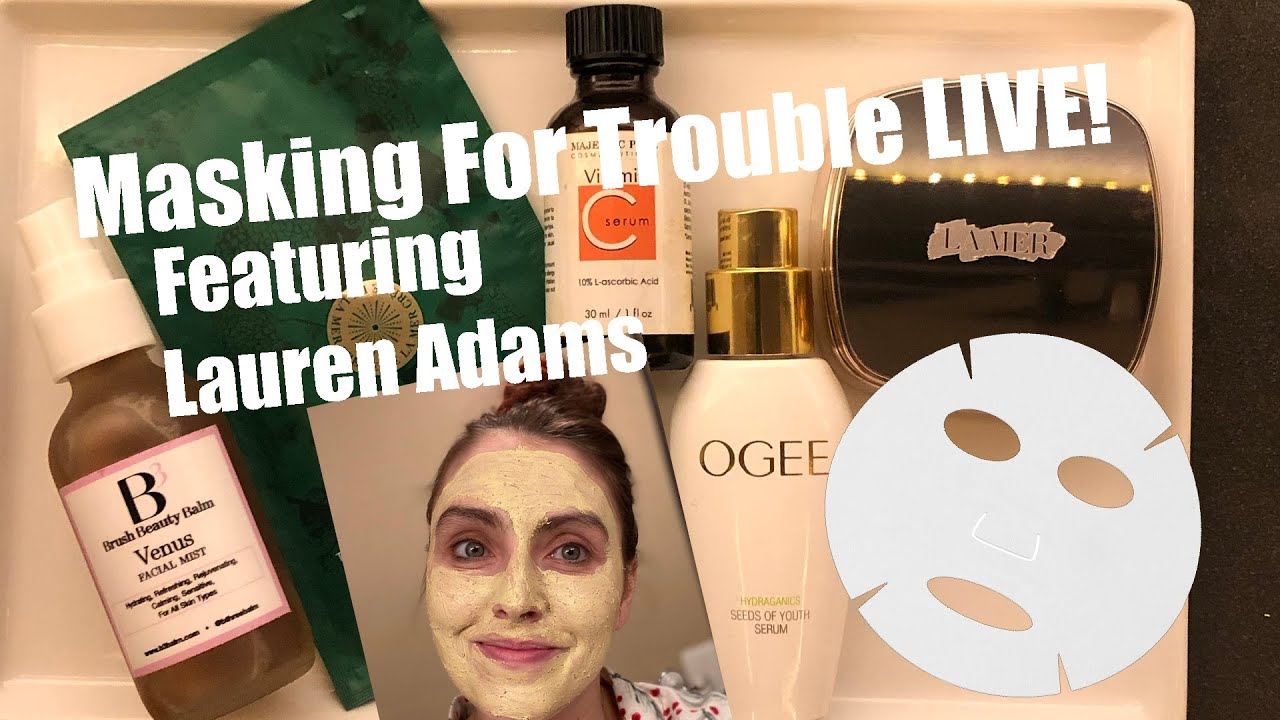 """Masking For Trouble""! Skincare Spa Night With Lauren Adams from ""Unbreakable Kimmy Schmidt"""