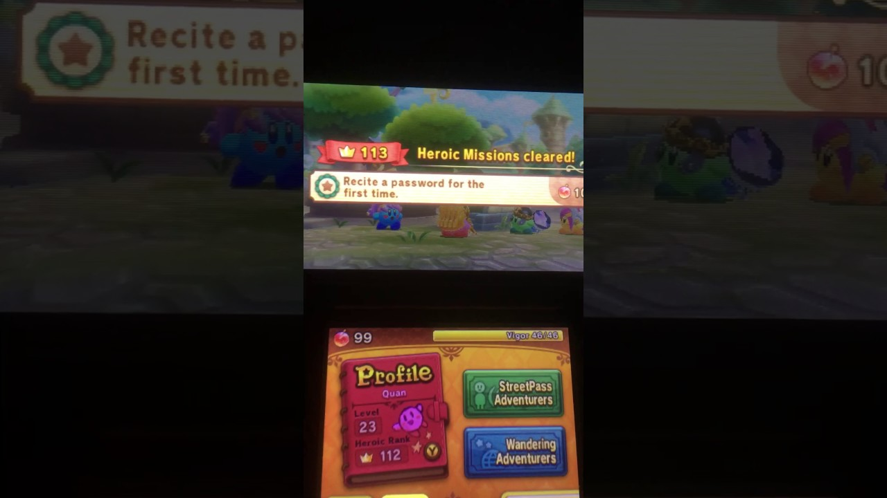 Password For Kirby Clash Deluxe Youtube