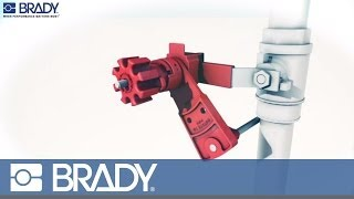 Brady Lockout Tagout Device Movie: Universal valve lockout