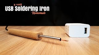 Mini Portable USB Soldering Iron 5 Volt - Homemade