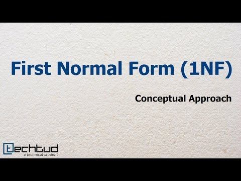 First Normal Form | Database Management System